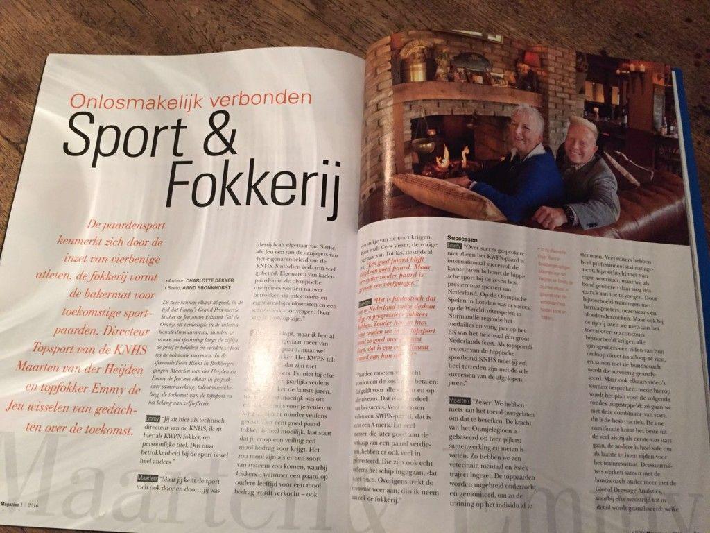 Sport en Fokkerij
